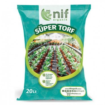 Nif Organik - Süper Torf - Çiçek ve Saksı Toprağı 20 Lt