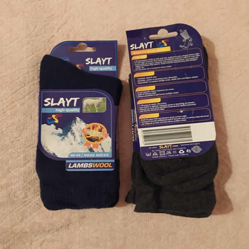 Yün Erkek Termal Çorap
