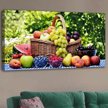 Kanvas Tablo 120x60 (Meyve-Sebze)