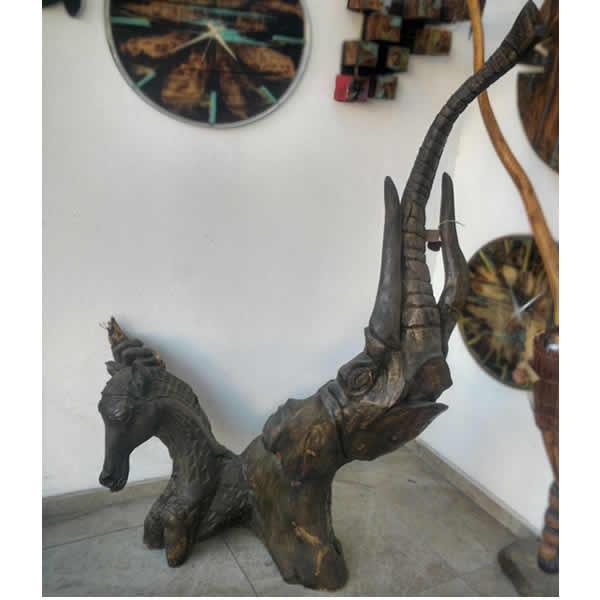 Ahşap At ve Fil  - Sanat Eseri Ahşap Oyma