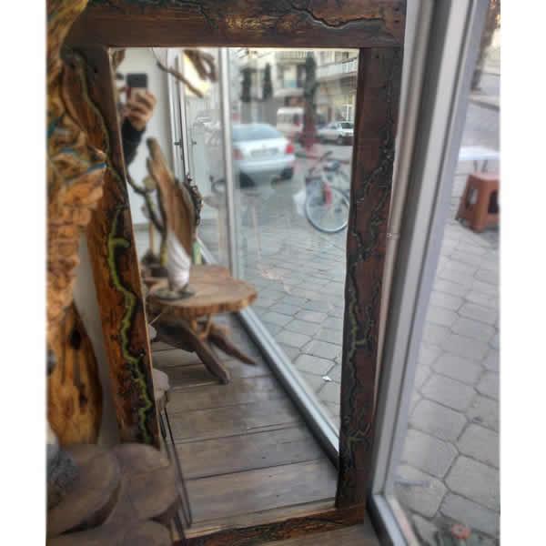 Ahşap Boy Aynası  - Sanat Eseri Ahşap Oyma