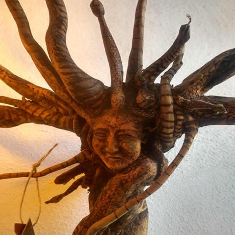 Ahşap Medusa  - Sanat Eseri Ahşap Oyma