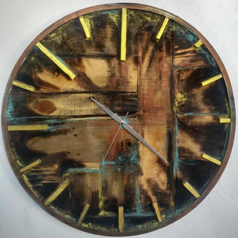 Ahşap Duvar Saati (Sanat Eseri)