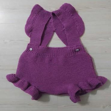 Örgü Bebek Tulum Askılı - El Örgüsü