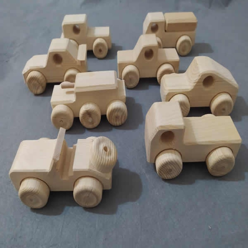 Ahşap Oyuncak Araba (Mini-21)