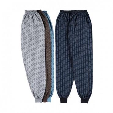 Erkek Alt İçlik - Renkli Pjama İki İp